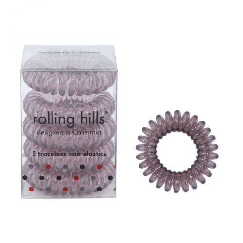 Rolling Hills Professional Hair Rings 5st Transparent Brown