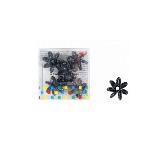 Rolling Hills Professional Hair Rings Mini 5st Black