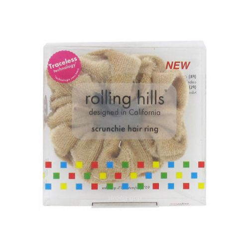 Rolling Hills Scrunchie Hair Ring Beige